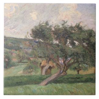 Landskap på Damiette, c.1890 (olja på kanfas) Kakelplatta