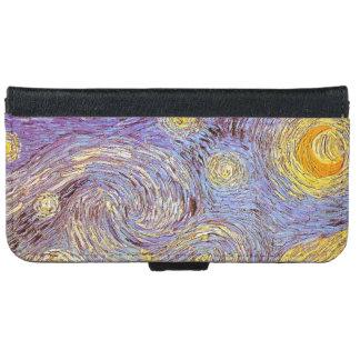 Landskap post impressionism Van Gogh för den Plånboksfodral För iPhone 6/6s