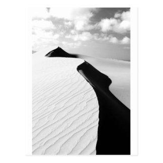 Landskap svartvita Te Paki jätte- sanddyner Vykort