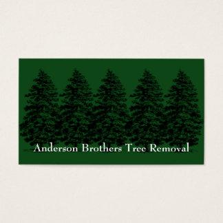 Landskap trädborttagningskortet visitkort