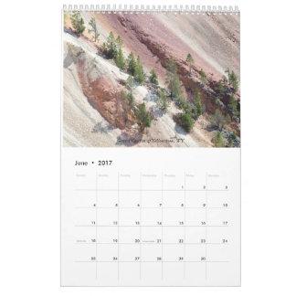Landskap variationsöster och väster kalender