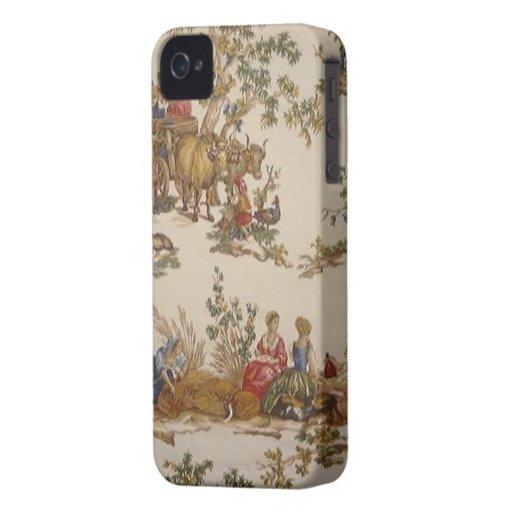 LandToile för vintage fransk blackberry bold iPhone 4 Fodral