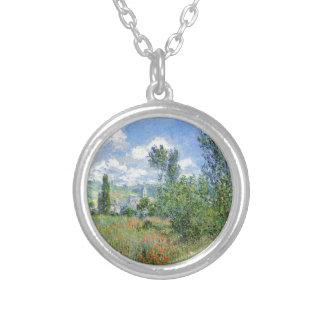 Lane i vallmofälten - Claude Monet Silverpläterat Halsband