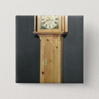 Lång-fodral tar tid på, med emaljmålning standard kanpp fyrkantig 5.1 cm
