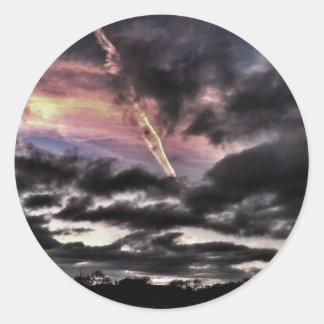 Lång väg till himmlen runt klistermärke