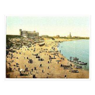 Långa Sands, Tynemouth, England storartade Photoch Vykort