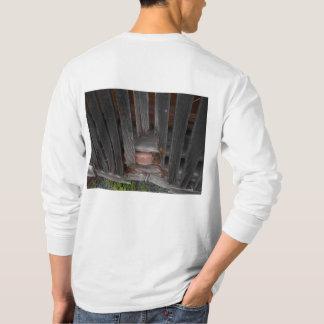 Långärmadmanar T-tröja med den gammala ladugården T-shirts