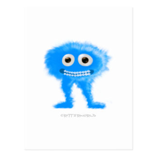 Långbent nötkreatur för blått vykort