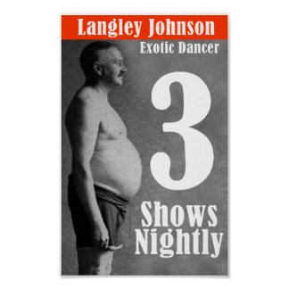 Langley Johnson, exotisk dansare Poster