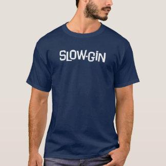 Långsam-Gin vitlogotyp T Shirt