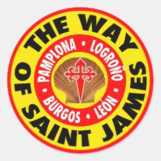 Långt av St James Rund Klistermärke