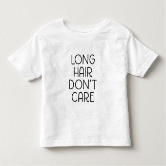 Långt hår att bry sig inte småbarnT-tröja Tshirts