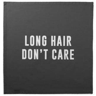 Långt hår. Att bry sig inte Tygservett