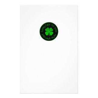 Långt liv till dig irländskt ordstäv brevpapper