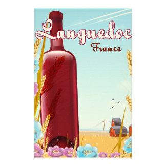 Languedoc frankriken reser affischen brevpapper