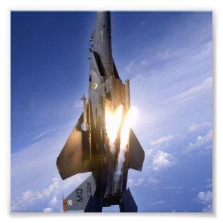 lanserande missil för jet f-15 fototryck