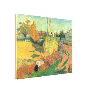 Lantbrukarhem från Arles av Paul Gauguin Canvastryck