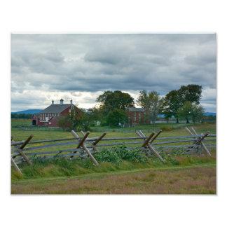 Lantbrukarhem - Gettysburg nationalpark - PA Fototryck