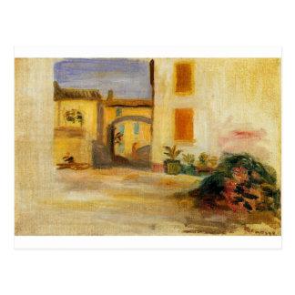 Lantgårdborggård vid Pierre-Auguste Renoir Vykort