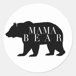 Lantlig baby shower för mammabjörn | runt klistermärke