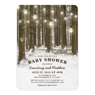Lantlig baby shower för träd för 12,7 x 17,8 cm inbjudningskort