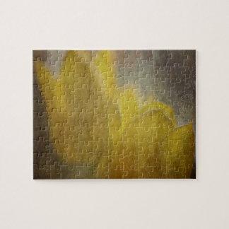 Lantlig blom- konst för gula tulpanblommor pussel