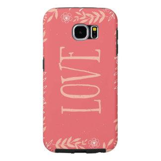 Lantlig blom- Pinkish orange för kärlek | Galaxy S5 Fodral