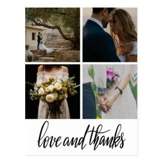 Lantlig bohemisk det bröllopkärlek & tack skrivar vykort