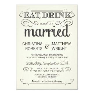 Lantlig bröllopsinbjudningar för 11,4 x 15,9 cm inbjudningskort