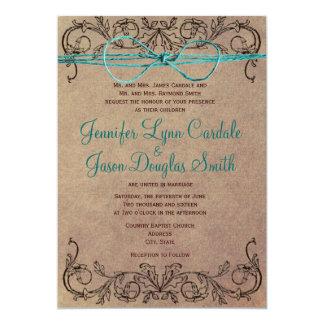 Lantlig bröllopsinbjudningar för kricka för 12,7 x 17,8 cm inbjudningskort