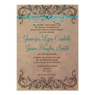 Lantlig bröllopsinbjudningar för kricka för landvi