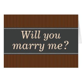 """Lantlig-Färgat """"ska dig att gifta sig mig?"""", Kort"""