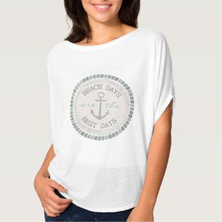 Lantlig Flowy för nautisk bäst dagstrand bästa T Shirts