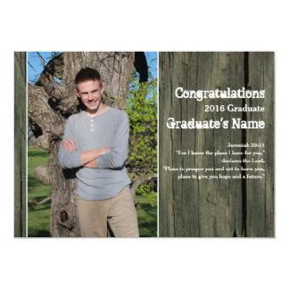 Lantlig för fotoScripture för trä fyra studenten 12,7 X 17,8 Cm Inbjudningskort
