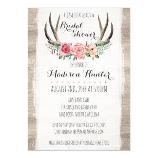 Lantlig gifta sig möhippaanpassningsbar för blom- 12,7 x 17,8 cm inbjudningskort