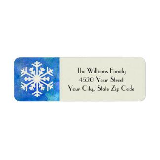 Lantlig helgdag för vinter för returadress etikett