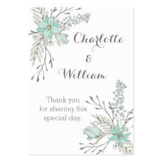 Lantlig himmelblåa blommor som gifta sig set av breda visitkort