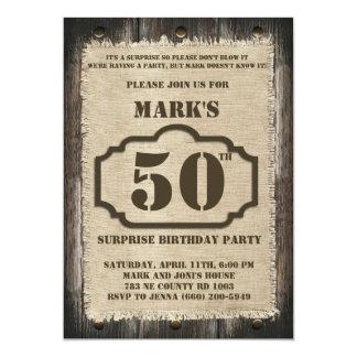 Lantlig inbjudan för födelsedagöverrrakningparty