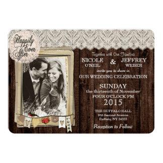 Lantlig inbjudan för landfotobröllop