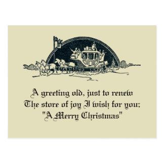 Lantlig jul för vintageVictoriandiligens Vykort