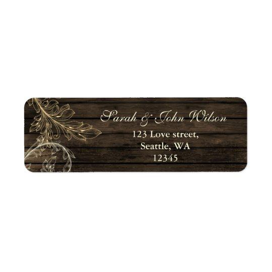 lantlig krusidullreturetiketter för barnwood returadress etikett