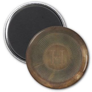 Lantlig magnet för metallH-monogram