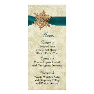 lantlig meny för bröllop för aquasnöflingorvinter