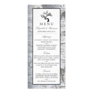 Lantlig meny för bröllop för silverbjörkträd