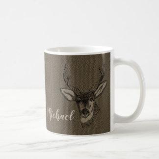 Lantlig Monogram för namn | för huvud för Kaffemugg