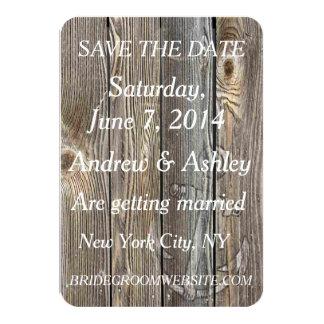 Lantlig nautisk tema-/strandbröllop spara datum 8,9 x 12,7 cm inbjudningskort