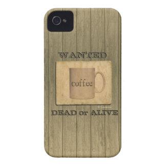 Lantlig önskade Dead eller vid liv - kaffe iPhone 4 Case-Mate Skydd