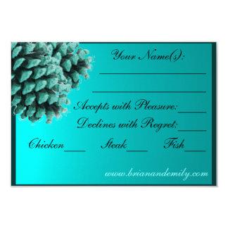 Lantlig OSA kort för kotte för blåttvintergräs 8,9 X 12,7 Cm Inbjudningskort