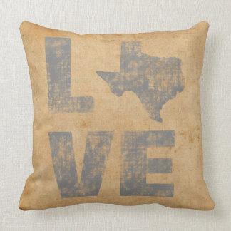Lantlig patriotisk kärlek Texas för ursnygg Texas Kudde