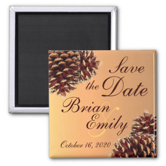 Lantlig pineconehöstspara datum magneter